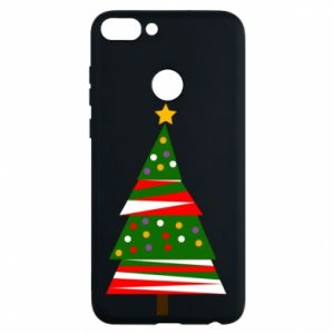 Huawei P Smart Case New Year tree decorated