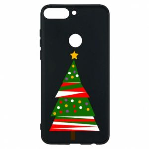 Huawei Y7 Prime 2018 Case New Year tree decorated