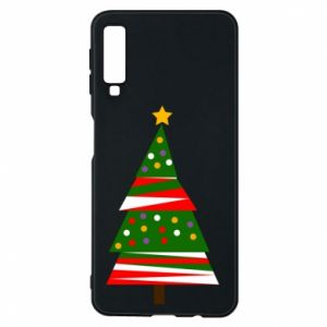 Samsung A7 2018 Case New Year tree decorated