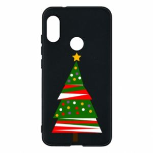 Mi A2 Lite Case New Year tree decorated