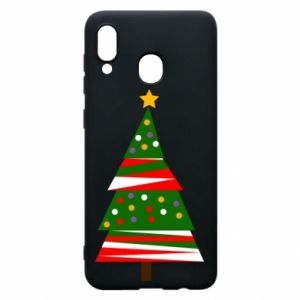 Samsung A20 Case New Year tree decorated