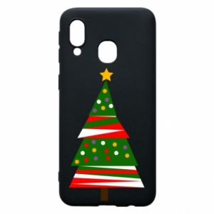 Samsung A40 Case New Year tree decorated