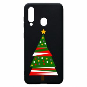 Samsung A60 Case New Year tree decorated