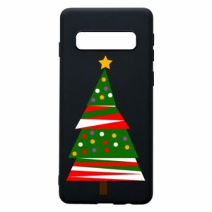 Samsung S10 Case New Year tree decorated