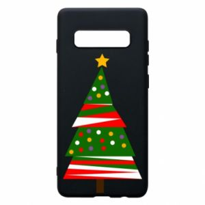 Samsung S10+ Case New Year tree decorated