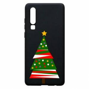 Huawei P30 Case New Year tree decorated