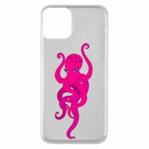 Phone case for iPhone 11 Big pink octopus