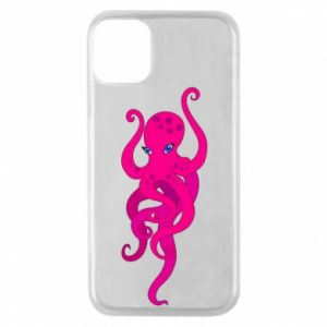 Phone case for iPhone 11 Pro Big pink octopus