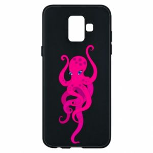 Phone case for Samsung A6 2018 Big pink octopus