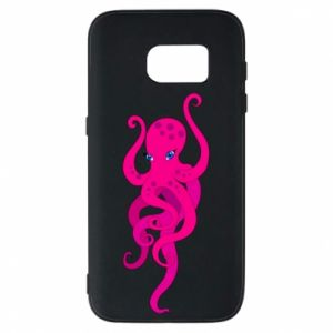 Phone case for Samsung S7 Big pink octopus