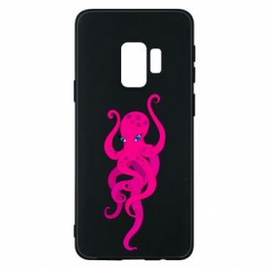 Phone case for Samsung S9 Big pink octopus
