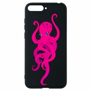 Phone case for Huawei Y6 2018 Big pink octopus