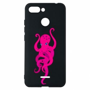Phone case for Xiaomi Redmi 6 Big pink octopus