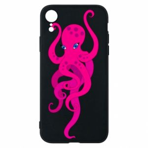 Phone case for iPhone XR Big pink octopus