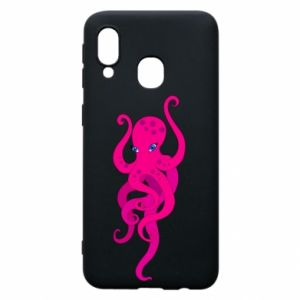 Phone case for Samsung A40 Big pink octopus