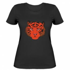Damska koszulka Duża twarz tygrysa