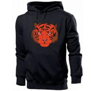 Men's hoodie Big tiger face
