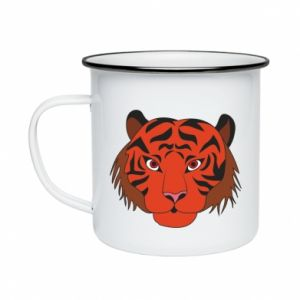 Enameled mug Big tiger face