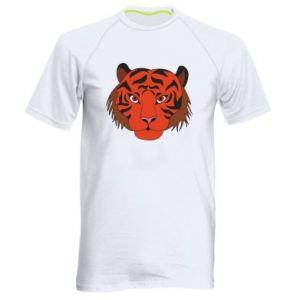 Men's sports t-shirt Big tiger face