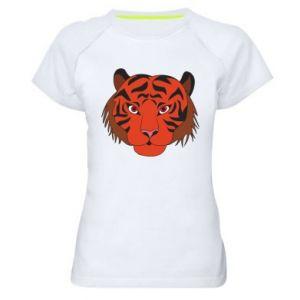 Women's sports t-shirt Big tiger face