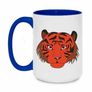Two-toned mug 450ml Big tiger face