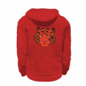 Kid's zipped hoodie % print% Big tiger face
