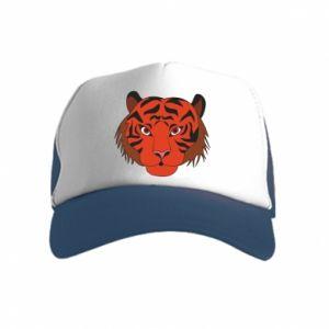 Kid's Trucker Hat Big tiger face