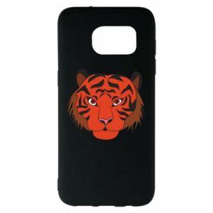 Samsung S7 EDGE Case Big tiger face