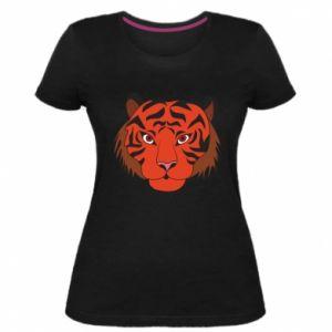 Women's premium t-shirt Big tiger face