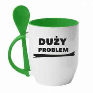 Mug with ceramic spoon Big problem - PrintSalon