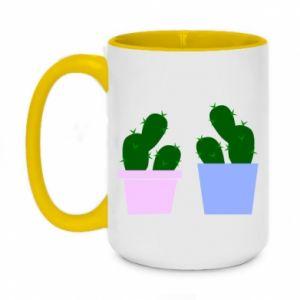 Two-toned mug 450ml Two large cacti