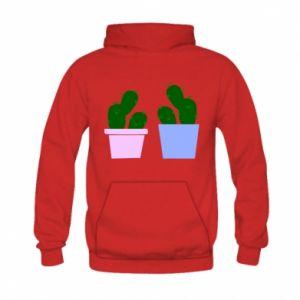 Kid's hoodie Two large cacti