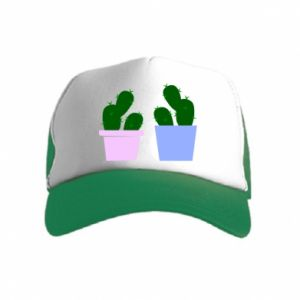 Kid's Trucker Hat Two large cacti