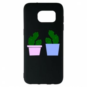 Samsung S7 EDGE Case Two large cacti
