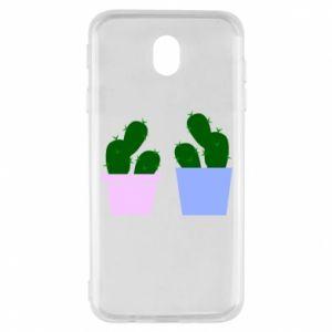 Samsung J7 2017 Case Two large cacti