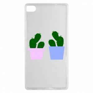 Huawei P8 Case Two large cacti