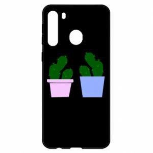 Etui na Samsung A21 Dwa duże kaktusy