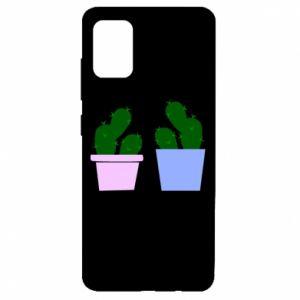 Etui na Samsung A51 Dwa duże kaktusy