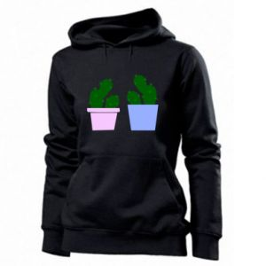 Women's hoodies Two large cacti