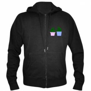 Men's zip up hoodie Two large cacti