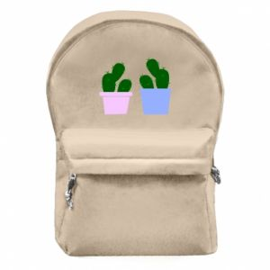 Backpack with front pocket Two large cacti
