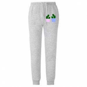 Męskie spodnie lekkie Two large cacti