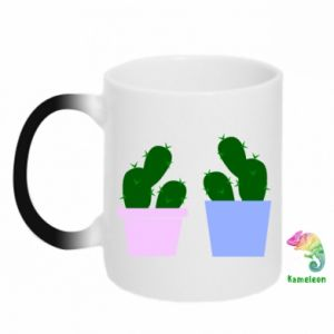 Kubek-kameleon Dwa duże kaktusy