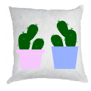 Pillow Two large cacti