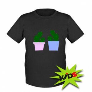 Kids T-shirt Two large cacti