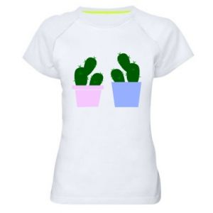 Women's sports t-shirt Two large cacti