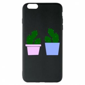 Phone case for iPhone 6 Plus/6S Plus Two large cacti