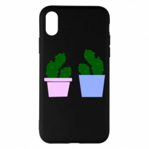 Phone case for iPhone X/Xs Two large cacti