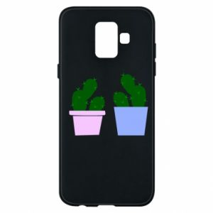 Phone case for Samsung A6 2018 Two large cacti