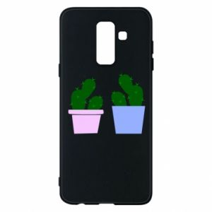 Phone case for Samsung A6+ 2018 Two large cacti